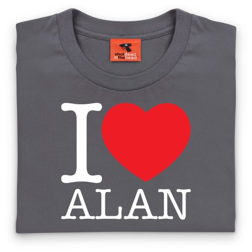 I Heart Alan T-Shirt, Herren Anthrazit