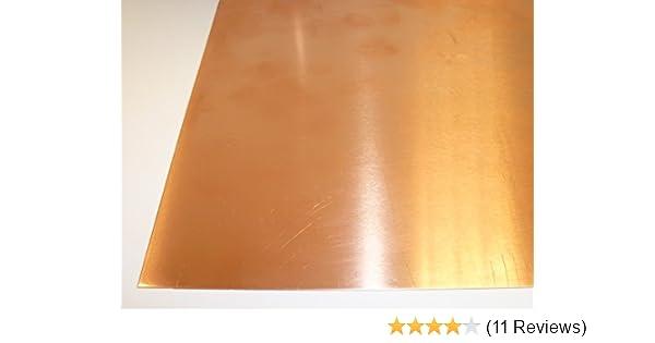 50 x 50 cm bis Gr/ö/ße 500 x 500 mm B/&T Metall Kupferblech 0,7 mm stark Qualit/ät nach DIN EN 1172 CUI-DHP-CW024A R240 halbhart SF-Cu