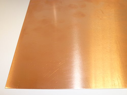 B&T Metall Kupferblech 0,5 mm stark Qualität nach DIN EN 1172 CUI-DHP-CW024A R240 halbhart (SF-Cu) bis Größe 100 x 200 mm (10 x 20 cm)
