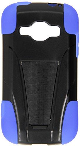 Samsung M840 Galaxy Ring/Prevail 2 [Virgin Mobile, Boost Mobile] Eagle Cell Hybrid doppellagige robuste Panzerhülle mit integriertem Ständer, blau/schwarz