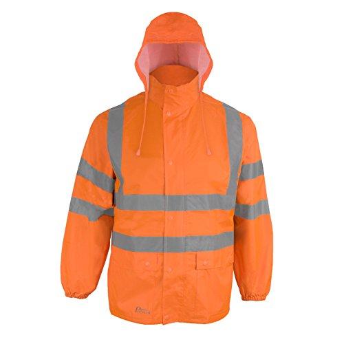 Prevent Warnschutz-Regenjacke RJO, leuchtorange, Gr. XL