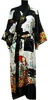 Shanghai Tongue® Geisha Kimono Bath Robe Night Gown Black One Size