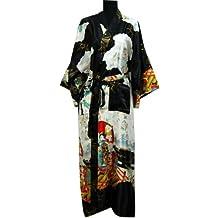 Bata de Shanghai Tongue®, estilo kimono de geisha, bata de baño y noche