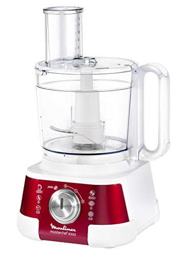 Moulinex FP520GB1 Master Chef Robot Multifonctions Blanc/Rouge Rubis