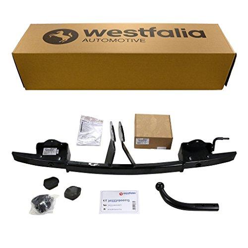 Starre Westfalia Anhängerkupplung für 3er Touring E91 (BJ 09/2005-08/2012), 3er Limousine E90 (BJ 03/2005-01/2012) im Set mit 13-poligem fahrzeugspezifischen Westfalia Elektrosatz