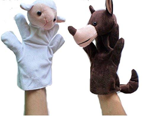 Udane Juguete Dedos 2 Piezas Lobo ovejas