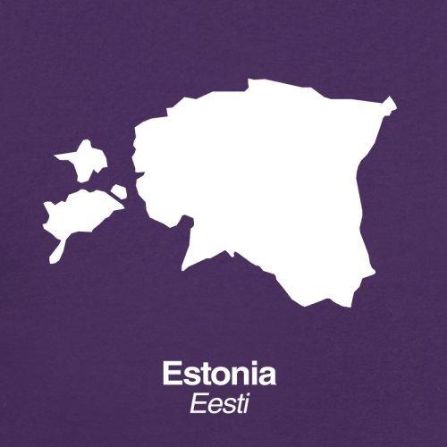 Estonia / Estland Silhouette - Herren T-Shirt - 13 Farben Lila