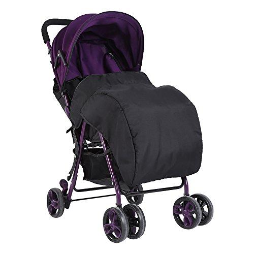 Fdit Neugeborene Baby Universal Fußsack Kinderwagen Kinderwagen Snuggle Abdeckung Winddicht Wasserdicht Schwarz