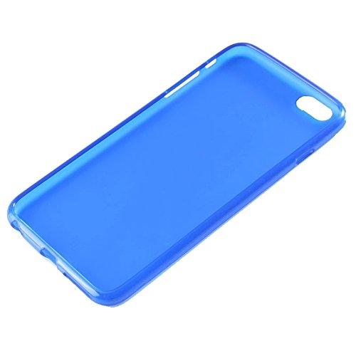 wkae Schutzhülle Case & Cover Frosted TPU Case für iPhone 6& 6S blau