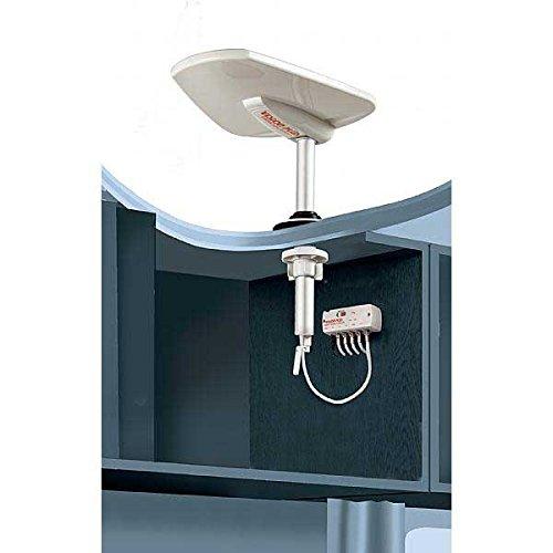 Vision Plus Status 5704G gerichtete TV und DAB/FM Radio Antennen-Kit inc. VP5Booster und Signal Finder, 330mm Mast mit Kurbel, zur, ideal für Wohnwagen und Wohnmobile Antenne Mast Inc