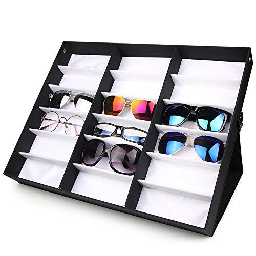 Sonnenbrillen-Organizer-Sammelbox Sonnenbrillen Vitrine Sunglass Eyewear Display Storage Case Tray für Brillen und Sonnenbrillen etc (Farbe : Double Layer) -