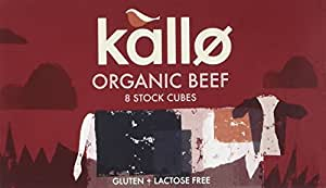 Kallo Organic Beef 8 Stock Cubes (Pack of 12)