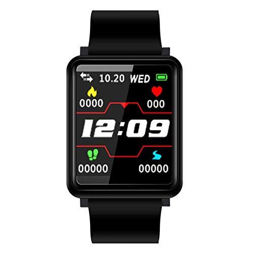 ZCC Neue Art und Weise Geschenk-intelligente Armband Fitness Tracker mit Blut-Sauerstoff-Blutdruck-Uhren Männer Frauen Activity Tracker Smart-Band Smart Watch (Color : Black)