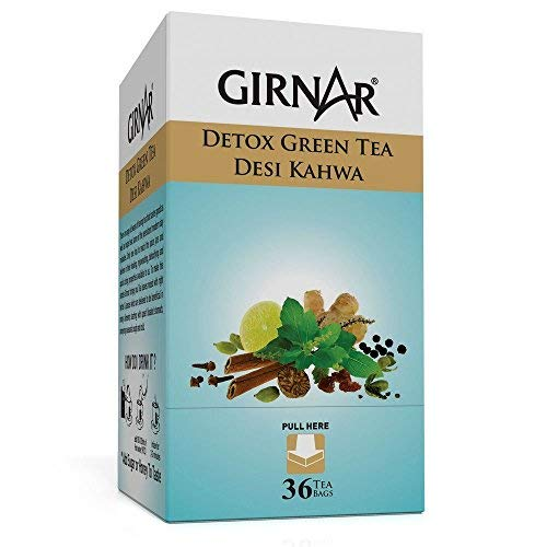Girnar Detox Desi Kahwa Tea Bags - Set of 36