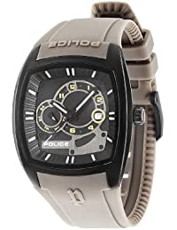 Police Men's PL.93542AEU/02A Quartz Watch with Black Dial Analogue Display and Silicone Strap