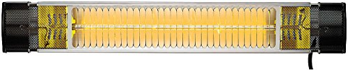 Semptec Heizstrahler, elektrisch: Infrarot-Außen-Heizstrahler IRW-2000 mit Goldröhre, 2.000 Watt, IP65 (Heiz-Gartenstrahler)
