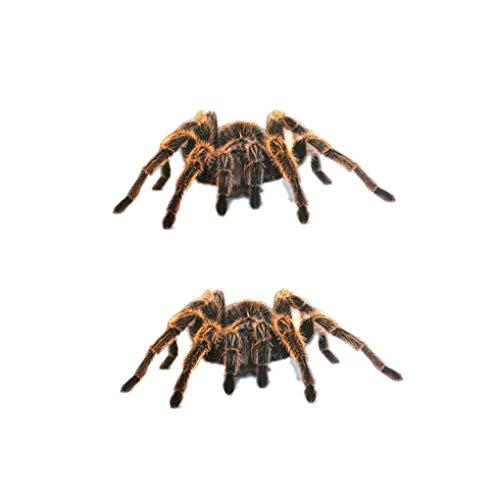 Chunyang 1Pcs / 2Pcs 3D-Spinnen-Aufkleber Lustige Auto-Kopf-Schwanz-Personality-Spinne Aufkleber-Abziehbild-Dekor-DIY Dekoration