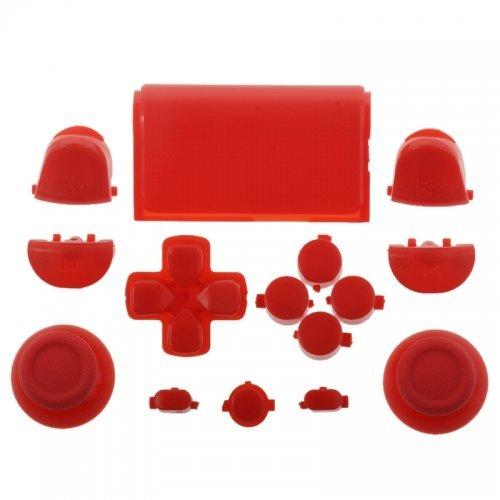Preisvergleich Produktbild PS4 Playstation 4 Controller Button Modding Set Buttons Thumbsticks D-Pad Knöpfe (rot) (JDM-001,011,020,021)