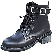 ... promociones más. ❤ Botas Cortas para Mujer, Correa de Hebilla para Mujer Zapato Plano con Punta