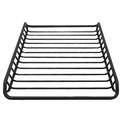 ALTERDJ Universal Dachkorb Auto Dachgepäckträger Dachträger Dach Gepäckträger Gepäckkorb aus Stahl schwarz Maximale Belastung: 110kg (140x100CM)