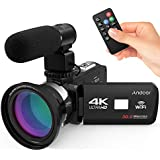 """Docooler Andoer 4K Ultra HD WiFi Digital Video Camera Camcorder DV Recorder 16X Zoom 3.0"""" LCD Touchscreen IR Night Vision with Hot Shoe Mount for External Microphone"""