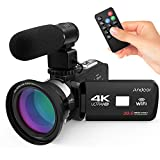 Docooler Andoer 4K Ultra HD WiFi Digital Video Camera Camcorder DV Recorder 16X