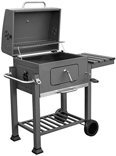 SRFDD Kohlegrill Tragbarer Grill für Rasen Picknick Hinterhof Balkon Kochen im Freien mit Rädern