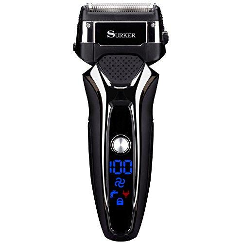 Elektrische Rasierer mit USB-Ladegerät trockene oder nasse Lithium-Batterie wasserdichte und schnurlose LED-Anzeige.Dieser Rasierer ist eine gute Geschenk für Papa Freund am Weihnachten oder Neujahr