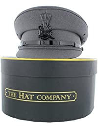 The Hat Company Chauffeur Cap In Black or Grey With Storage Box