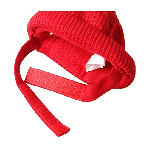 (TKHCOLDM Haustierhut Weihnachtshut für Tierhut Weihnachtsmann-Hut Warmer Haustierhut mit Wollballpflegewerkzeug und kleiden Oben Zubehör - ChinaY10)