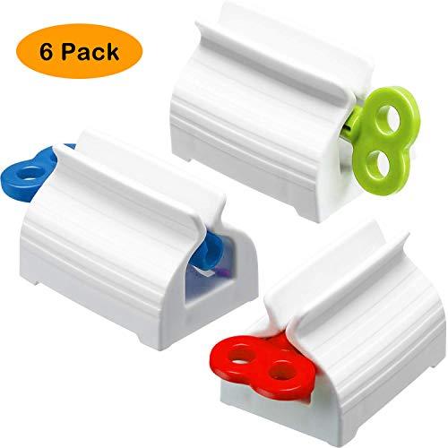 4 Unze Zahnpasta (Bigbigjk 6 Stück Tubenquetscher Tubenausdrücker, Squeezer Tubenpresse Zahnpastaspender Quetscher Tubenpresse Set für Zahnpasta Haarfarbe Farben Kosmetik)