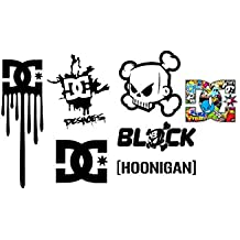 1 Set Ken Block DC Shoes Hoonigan Aufkleber Sticker Decal Logo Die Cut Auto Car Motorrad Bike Laptop Heckscheibe Rockstar