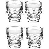 Maxed Skull Shaped shot glasses Set of 4