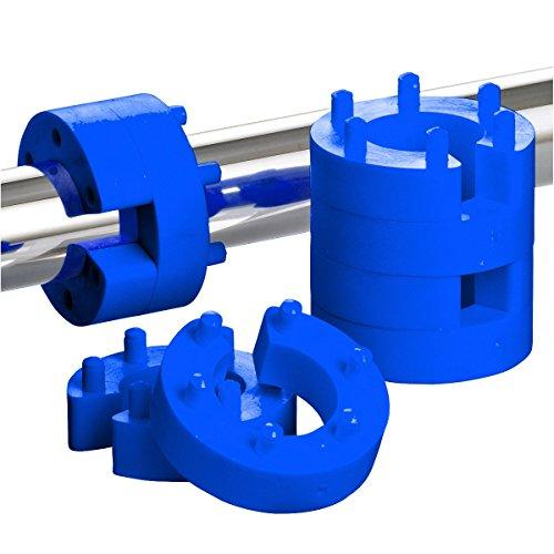 8er Set 25mm Federwegsbegrenzer Blue Line mit 6-Fach Positionierung Federwegbegrenzer