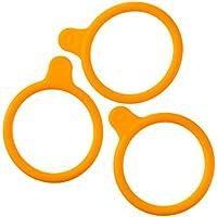 DURAN 292432826 Anillas Marcadas en Silicona, para GL45 DURAN Frascos para Laboratorio, Naranja
