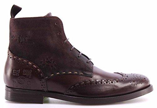 Scarpe Uomo LA MARTINA L2076156 Cuero Vacchetta TMoro Ankle Boots Italy Nuovo