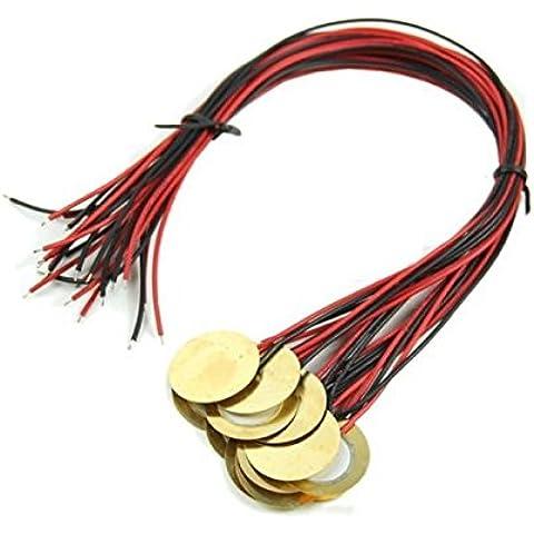 Pink Lizard 12pcs piezos amplificatori con i cavi per raccolte della chitarra scatola di sigari