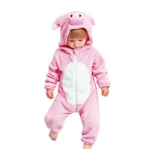 Mounter 2019 Pyjama Ensemble De Pyjama Dors Bien Enfant Bébé Combinaison Hiver Forme Animal Déguisement Stitch Rose 0-24 Mois
