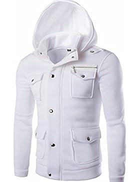 [Patrocinado]Ropa de abrigo para hombre, RETUROM Chaqueta de bolsillo sudadera con capucha de invierno para hombre