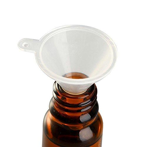 Leisial 10 Stück Mini Kunststoff Trichter Transparent Milchig - 5
