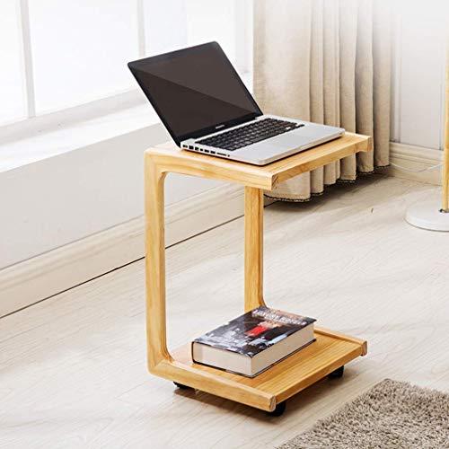 MU Haushalt Moderne Tabelle Holz Sofa Beistelltisch Schlafzimmer Nachttisch beweglichen kleinen Couchtisch Mini-Beistelltisch mit Rädern - Schlafzimmer Modernen Beistelltisch