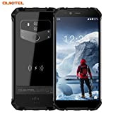 Telephone Portable Incassable,Oukitel WP1 4G Antichoc Etanche IP68 (5000mAh Battery,5,5 Pouces,4Go RAM+64Go ROM,13MP+5MP Cameras,Dual Double Nano Sim,Android 8.1) Noir