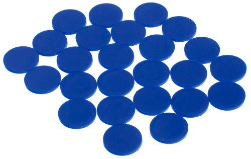 DP-Tech 25 Stück Einkaufswagenchips Chips für Einkaufswagen, Wert- oder Pfandmarke ersetzt 1-Euro-Münze Dunkelblau -