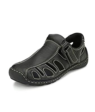 SHOE DAY Roman Artificial Leather Men Sandal Brown