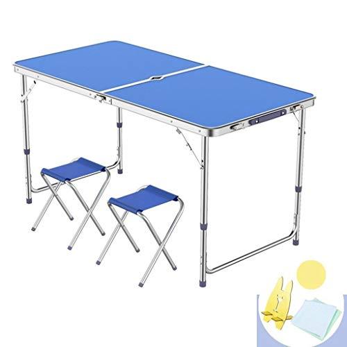 LJJOO Klapptisch Klappmöbel Mit Klapphocker Gartenfest Grill Tragbaren Tisch Display Tisch Küchenarbeitsplatte (Color : Blue-a)