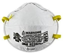 3M 8210 N95 Health Care Particulate Flu Protection Respirator and Surgical Mask, Pack of 160