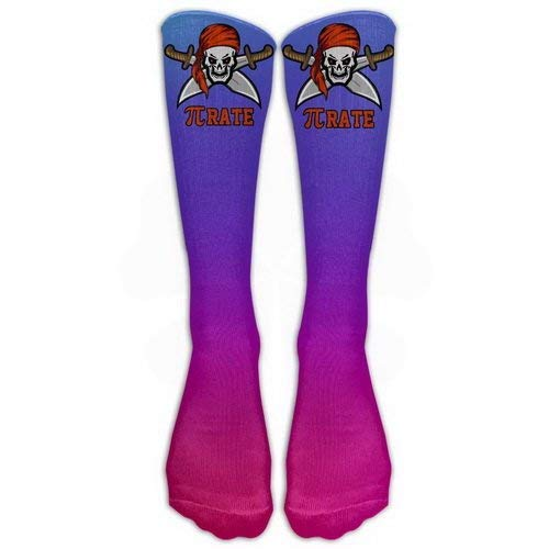 Women Teens Casual Warm Winter Knee High Socks Pirate Pi-rate Fierce Skull Great Quality Men 1 Pair Long Tube Stockings for Athletic Football -