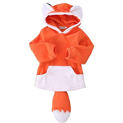 Jungen Fox Kostüm - Fairy Baby Kleinkind Jungen Mädchen Fox Halloween Kostüm Baby Kapuzenmantel Size 80(12-18 Monate) (Orange)