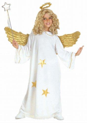 Widmann 38186 - Kinderkostüm Engel, Kleid und Heiligenschein, Größe (Kleid Mädchen Engel)