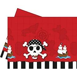 Mantel con diseño de piratas para fiesta.